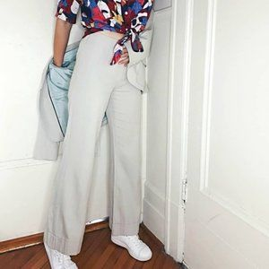 Andy Thé Anh | Cotton and Silk Cuffed Flared Pants
